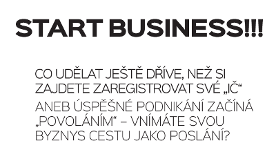 čb nápis - start business...